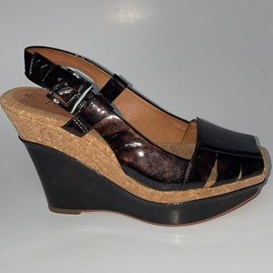 Anthropologie  No 704 b. wedges, Size 38.5
